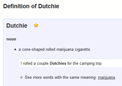 What does Dutchie mean?